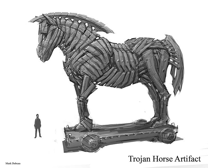 народе троянский конь картинка срисовать взасос, поцелуй