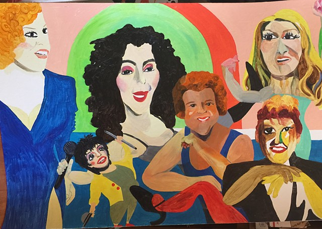 Divas (Cher, Bette, Liza, Richard, Judy, Celine)